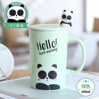创意狗年杯子陶瓷马克杯带盖勺牛奶早餐杯情侣杯咖啡杯办公室水杯a233