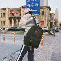 休闲小毛球飘带蝴蝶结初中高中学生双肩包背包女生女孩女士书包