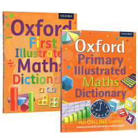 牛津初级插图 英文词典 数学插画词典 Oxford First/Primary Illustrated Math Dictionary STEM词典绿山墙
