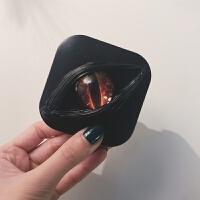 新款个性奶油胶隐形眼镜美瞳双联收纳盒便携男潮
