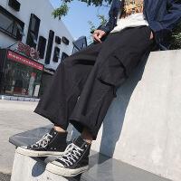 工装裤潮牌阔腿多口袋潮牌休闲裤学生直筒日系长裤ins超火的