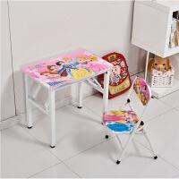 儿童学习桌小学生书桌写字桌椅卡通套装组合折叠桌简易小方型课桌