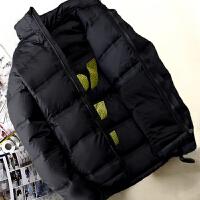 新款羽绒服男短款青年冬季保暖修身款加厚男士户外羽绒服外套 黑色 1075款 M 0