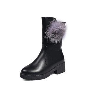 WARORWAR新品YM147-618-111秋冬韩版粗跟低跟女士短靴马丁靴
