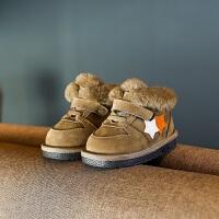 宝宝冬季雪地靴男1-3岁软底防滑学步鞋女童0-2加绒加棉婴儿鞋子