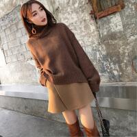 茉蒂菲莉 套装 女士长袖单色慵懒风毛衣秋冬新款韩版女式时尚休闲舒适针织衫两件套