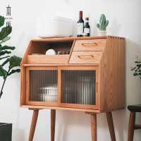 【限时7折】北欧实木餐边柜现代简约酒柜靠墙客厅储物柜子家用餐厅厨房茶水柜