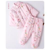 宝宝手工棉衣男女童婴儿棉花棉袄棉裤套装0-1-2-3岁儿童加厚冬装