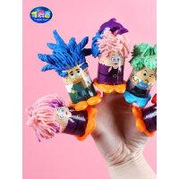 可爱客 魔发师无毒彩泥橡皮泥套装美国儿童理发挤头发玩具彩泥