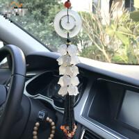 汽车挂件车内车用挂饰品貔貅高档玉石玉髓保平安简约大气创意吊坠