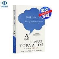 英文原版 只是为了好玩:一个意外的革命者的故事 Just for Fun Linux操作系统之父林纳斯自传