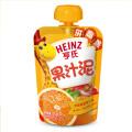 亨氏果汁泥苹果香芒香橙香蕉草莓蓝莓黑加仑120g袋装拼趣盖