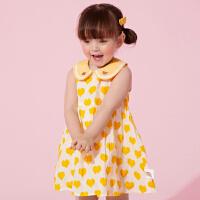 【3件1.5折价:39】笛莎女童装连衣裙2021夏季新款中小童女宝宝时尚甜美公主格子裙子