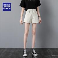 【2折预估到手价:84叠券更优惠】罗蒙女士夏季短款牛仔裤清凉透气休闲短裤