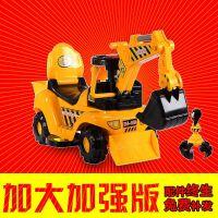 新款电动儿童挖掘机挖土机男孩玩具车可坐可骑大号音乐学步工程车