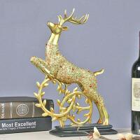 欧式鹿摆件客厅装饰品工艺品酒柜电视柜办公桌摆设