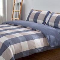 四件套全棉纯棉1.8m米床上用品床单被套被罩简约双人欧美式水洗棉