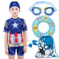 儿童连体泳衣4游泳衣孩子男孩3-5岁67游泳服8泳装9小学生10岁