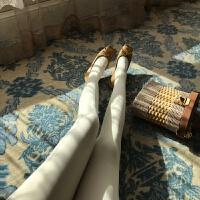 白色打底袜女冬加厚连脚女外穿秋冬修身显瘦小个子百搭弹力裤袜 均码
