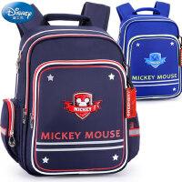 迪士尼米奇男童书包1-3年级小学生双肩包6-10岁减负护脊儿童背包