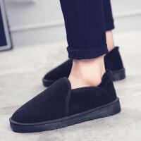 雪地靴男冬季棉鞋韩版加绒保暖面包鞋男款短靴子低帮板鞋男士情侣