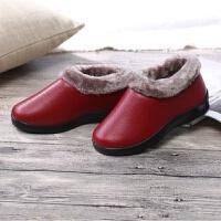 冬季老北京布鞋女鞋高帮软底防滑保暖鞋老人棉鞋厚底中老年妈妈鞋