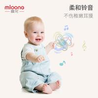 曼龙 宝宝牙胶磨牙棒咬胶3-6-12个月 婴儿感知玩具新款曼哈顿手抓球