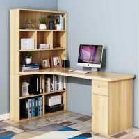 转角电脑桌台式家用简约现代学习桌学生书桌书架组合桌子儿童书桌