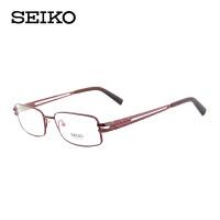 精工 纯钛 全框眼镜架 方形眼镜框 近视眼镜 红色 HB1087