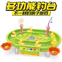 水上钓鸭子电动戏水磁性钓鱼玩具比赛女孩6男孩儿童3岁益智宝宝