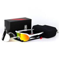 征伐 骑行眼镜 户外运动跑步登山防风眼镜骑士护目镜防晒自行车太阳镜三片装