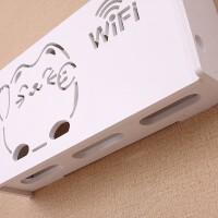 小型无线路由器收纳盒子电视机顶盒壁挂墙上置物架免打孔wifi卧室