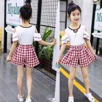 童装运动套装女童夏季短裤两件套新款儿童韩版夏装中大童校服