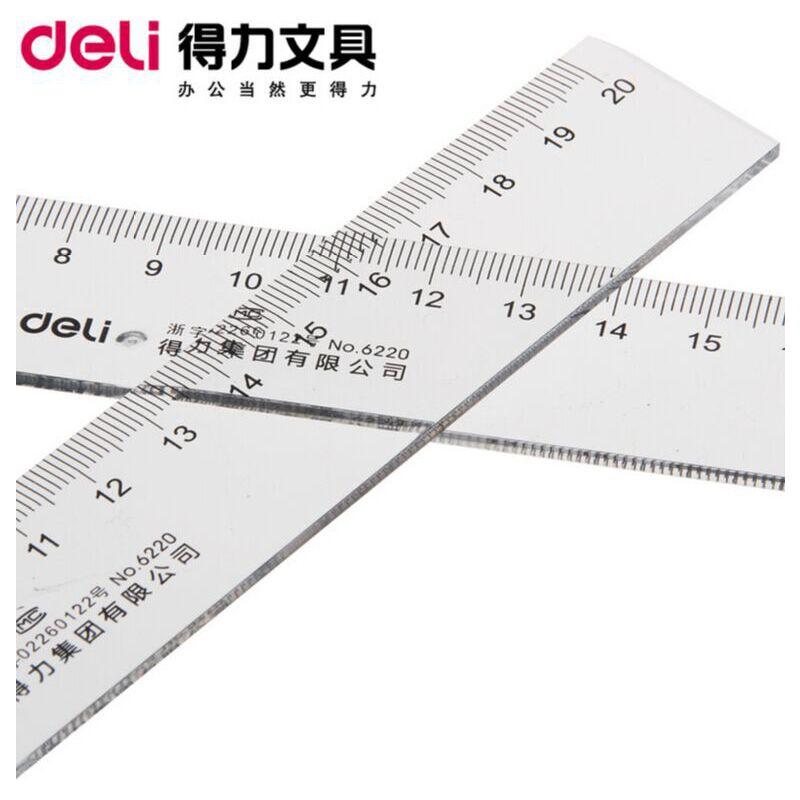 得力(deli)6220 20cm塑料直尺全场满50包邮图片