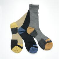 3双混色装大树户外运动袜短袜男士踢不烂徒步耐磨中筒加厚春季新 均码
