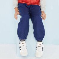 【1件3折到手价:43.5】moomoo童装男童裤子新款春秋装撞色宽松休闲中大童梭织长裤