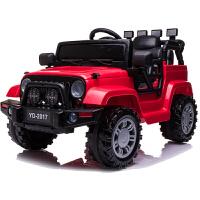 儿童电动车越野新款加长版吉普 四轮汽车可坐带遥控玩具宝宝童车