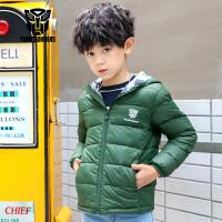 【促】变形金刚童装男童冬装2018秋冬新品轻薄连帽棉服