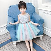 女童连衣裙夏装新款洋气儿童背心纱裙连衣裙女孩公主裙裙子夏