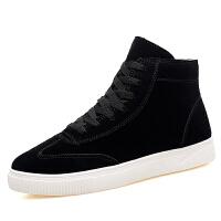 冬季新款加棉板鞋高帮男士运动休闲鞋韩版百搭潮鞋加绒保暖棉鞋