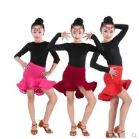 夏季拉丁舞裙儿童比赛标准服演出服专业少儿舞蹈练功服考级服女装