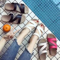 凉拖鞋女夏季新款休闲室外时尚防滑软底平底凉鞋休闲女士凉拖鞋