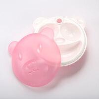 W 婴儿碗勺套装辅食婴幼儿童餐具宝宝分格隔餐盘吸盘摔注水保温碗D7