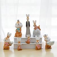 zakka仰望天空小动物树脂摆件创意情人节家居装饰品摆设结婚礼物