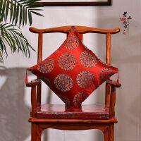 中式仿古红木沙发抱枕靠背靠垫实木家具靠枕客厅扶手腰枕含芯定制
