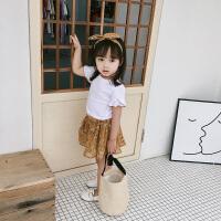 夏装洋气女童套装两件套裙子儿童短袖公主裙女宝宝半身裙