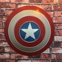 美国队长盾牌全金属工业风铁艺复古怀旧墙上壁饰壁挂墙面装饰盾牌