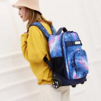 儿童拉杆书包女孩初高中学生男孩6-12周岁大容量小学生双肩包背包