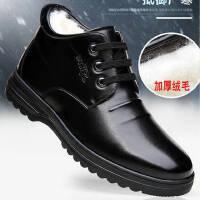太平狼皮鞋棉鞋秋冬季高帮加绒保暖棉鞋男士休闲鞋软底爸爸鞋