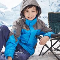 儿童三合一冲锋衣抓绒两件套秋冬装男童户外运动外套防水